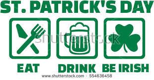St Patricks Day Eat Drink Be Stock Vector 554636458 Shutterstock
