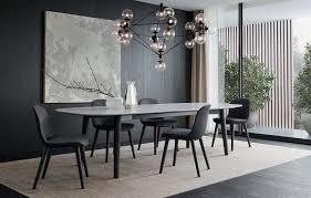 black and white kitchen table tavoli poliform concorde