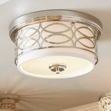 Flush Ceiling Lights For Kitchens Flush Mount Lighting You Ll Wayfair