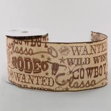 western ribbon 4 canvas cowboy western ribbon brown 10 yards rg1688tm