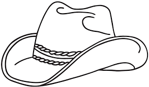 Cowboy Hat Coloring Pages Getcoloringpages Com Coloring Page Of A Hat