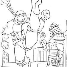 cartoon ninja turtle coloring pages leonardo ninja turtle