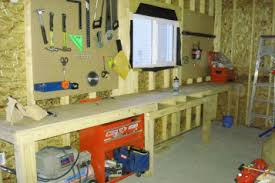 bench for garage garage wooden work bench plans functions spotlats