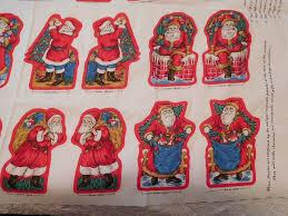 cranston print fabric fashioned santa ornaments 3