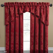 Red Scarf Valance Window Treatments