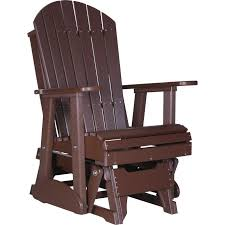 Glider Chair Luxcraft Adirondack Recycled Plastic 2 Glider Chair Rocking Furniture