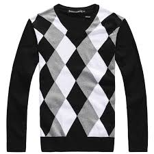 plaid sweater fashion autumn and winter thin sweater for casual
