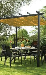 pergola balkon freistehende pergola mit versenkbarem baldachin zuhause garten