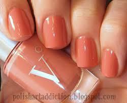 coral color nail polish nails art ideas