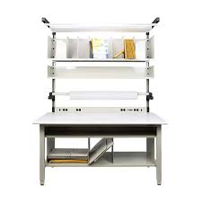 Workbench With Light Iac Industrial Packaging Stations Made In Usa