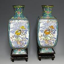 Large Chinese Vases Antiques Regional Art Asian Chinese Enamel Trocadero