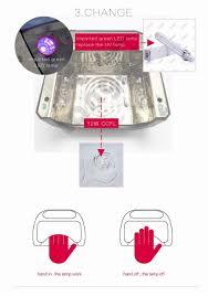 auto sensor led uv lamp 36w gel nail machine dry nails diamond