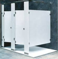 Stainless Steel Bathroom Partitions by Fiberglass Reinforced Frp Toilet Partitions Overhead Braced Only