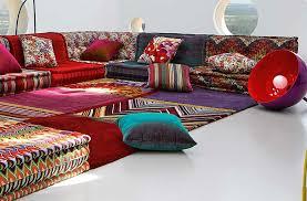 mah jong canapé bohemian living room roche bobois mah jong modular sofa