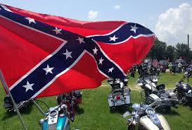 Different Confederate Flags Thousands Rally To Support Confederate Flag Line Of Trucks Bikes