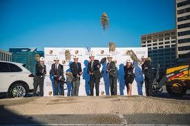 porsche dealership porsche canada breaks ground on new head office and dealership in