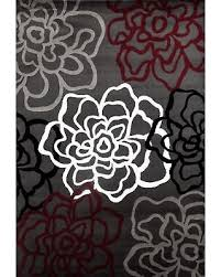 Modern Floral Rug On Sale Now 15 Osti Grey Polypropylene Contemporary