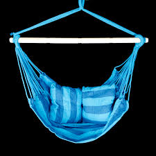 Patio Chair Swing Patio Swing Hanging Chair Seat Blue Teal Outdoor Camping