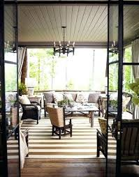 Rustic Outdoor Rugs New Outdoor Rugs For Screened Porches A Rustic Mountain Retreat