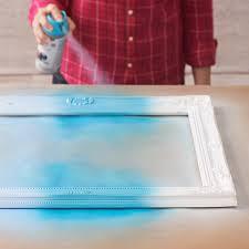 ombré spray painted frames