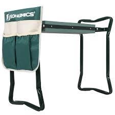 Garden Kneeler Bench Songmics Garden Kneeler Seat With Bonus Upgraded Tool Pouch And