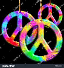 peace symbols psychedelic ornaments stock illustration 116490079