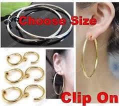 hoop clip on earrings clip on hoops gold silver big small medium hoop earrings look