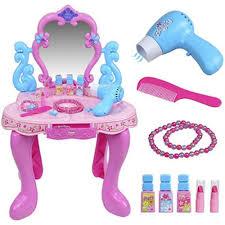 Little Girls Vanity Playset Children U0027s Plastic Dressing Table Ebay