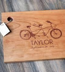 custom tandem bicycle cutting board home kitchen u0026 pantry