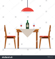 Dining Table And Two Chairs Dining Table Chairs Two People Bottle Stock Vector 555175231