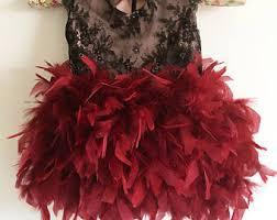 black feather dress etsy