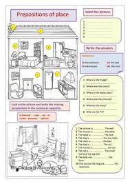 prepositions of place teaching english pinterest