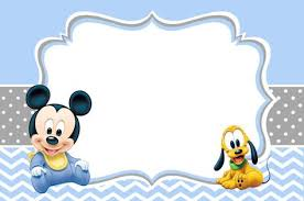 mickey mouse baby shower invitations template baby shower ideas