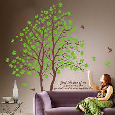 Home Decoration Wall Stickers Super Large Green Tree Wall Sticker Wall Decals Art Wallpaper Home