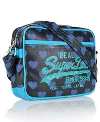 alumni bags womens heart mini alumni bag in navy superdry