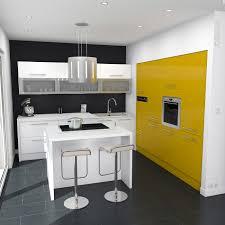 moutarde blanche en cuisine cuisine cuisine ouverte pop blanche et jaune brillante meubles et