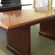 Mahogany Conference Table Used Kimball 36
