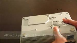 replacing a projector u0027s lamp acer h5350 youtube