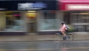 Blind Man Rides Bike Biking In The Rain Gear Tips And Gentle Encouragement