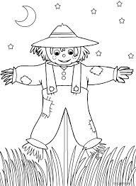 scarecrow coloring pages pdf printable kids em fun