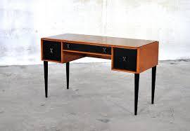 Small Mid Century Desk Small Teak Desk Modern Mid Century Vanity Small Desk