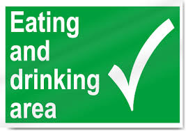 eating and drinking area safety signs signstoyou com