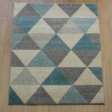 Modern Rug Uk Accent Prism Turquoise Abstract Rug Buy Rugs In The Uk