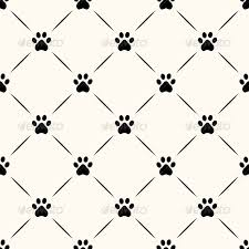 seamless animal pattern of paw footprint by svetolk graphicriver