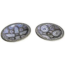 pair of large moroccan ceramic plates for fez for sale at 1stdibs