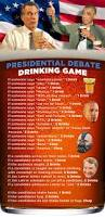 the presidential debate drinking game