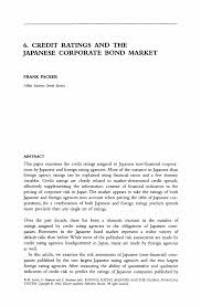 Financial Analyst Cover Letter Credit Ratings And The Japanese Corporate Bond Market Springer
