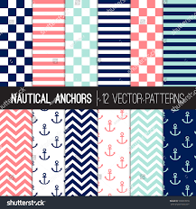 united states navy halloween background girly nautical patterns navy blue coral stock vector 596897018