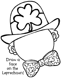 leprechaun coloring pages printable free draw a leprechaun face printable or color online thanks crayola
