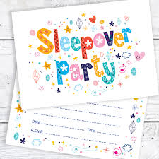 a6 invitation envelopes sleepover party birthday party invitations a6 postcard size